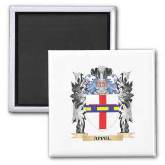 Appel Coat of Arms - Family Crest 2 Inch Square Magnet