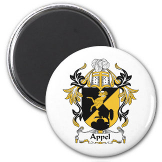 Appel Family Crest 2 Inch Round Magnet