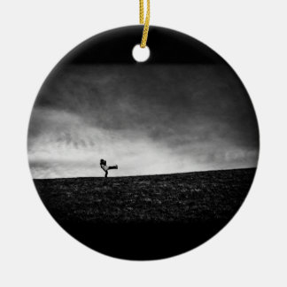 appendages on hill Double-Sided ceramic round christmas ornament
