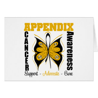 Appendix Awareness Butterfly Greeting Cards