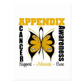 Appendix Awareness Butterfly Postcard