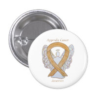 Appendix Cancer Amber Awareness Ribbon Angel Pins