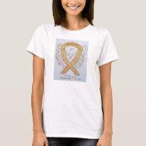 Appendix Cancer Amber Awareness Ribbon Angel Shirt