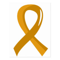 Appendix Cancer Amber Ribbon 3 Postcard