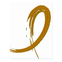 Appendix Cancer Amber Ribbon A4 Postcard