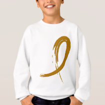 Appendix Cancer Amber Ribbon A4 Sweatshirt