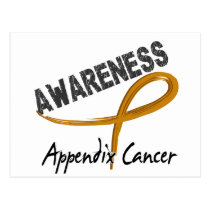 Appendix Cancer Awareness 3 Postcard