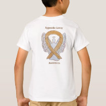 Appendix Cancer Awareness Amber Ribbon Angel Shirt