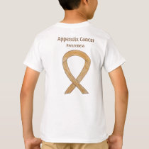 Appendix Cancer Awareness Amber Ribbon Shirt