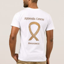 Appendix Cancer Awareness Amber Ribbon T-Shirt