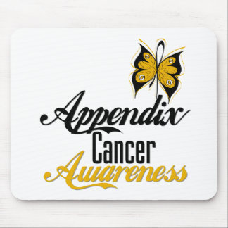 Appendix Cancer Awareness Butterfly Mouse Pad