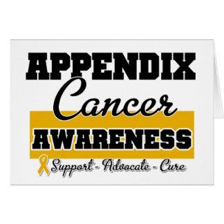 Appendix Cancer Awareness Greeting Cards