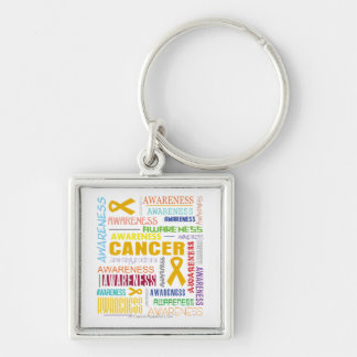 Appendix Cancer Awareness Collage Keychain