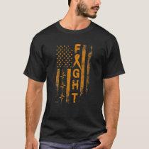 Appendix Cancer Awareness Fight American Flag Gift T-Shirt