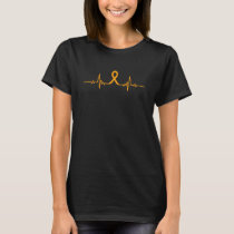 Appendix Cancer Awareness Heartbeat  Zodiac Gift F T-Shirt