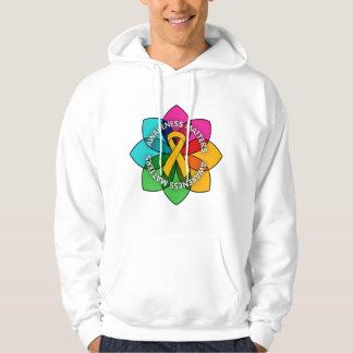Appendix Cancer Awareness Matters Petals Hooded Sweatshirt