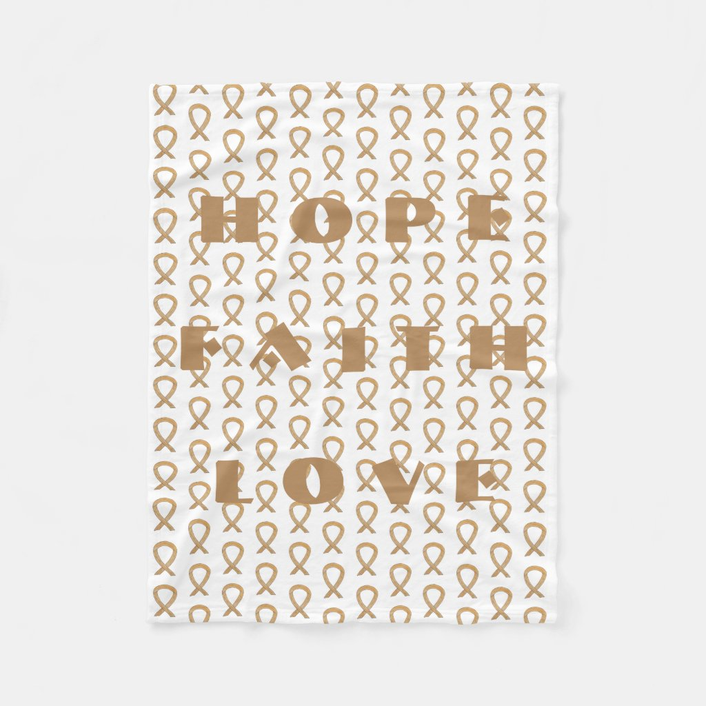 Appendix Cancer Awareness Ribbon Chemo Blankets