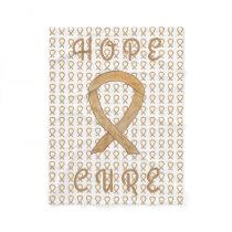 Appendix Cancer Awareness Ribbon Fleece Blankets