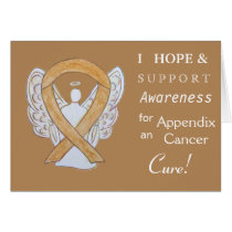 Appendix Cancer Awareness Ribbon Greeting Cards