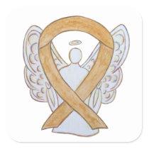 Appendix Cancer Awareness Ribbon Sticker Decals