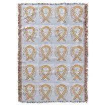 Appendix Cancer Awareness Ribbon Throw Blankets