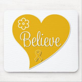 Appendix Cancer Believe Heart Mouse Pad