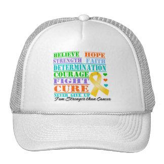 Appendix Cancer Believe Strength Determination Trucker Hat