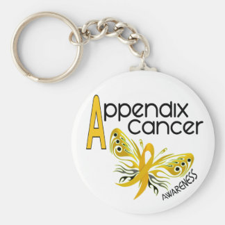 Appendix Cancer BUTTERFLY 3.1 Keychain