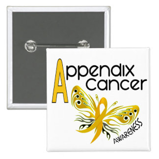 Appendix Cancer BUTTERFLY 3.1 Pinback Button
