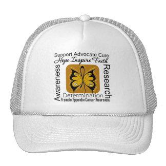Appendix Cancer Butterfly Inspirations Trucker Hat