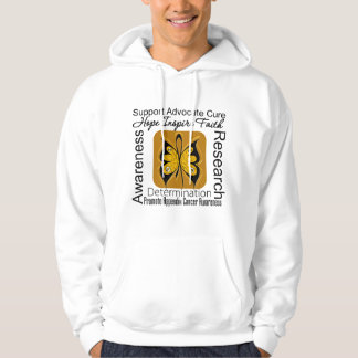 Appendix Cancer Butterfly Inspirations Hooded Sweatshirts