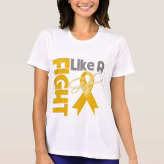 Appendix Cancer Chic Fight Like A Girl Ribbon T Shirts