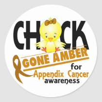 Appendix Cancer Chick Gone Amber 2 Classic Round Sticker