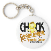 Appendix Cancer Chick Gone Amber 2 Keychain