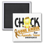 Appendix Cancer Chick Gone Amber 2 Magnets