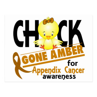 Appendix Cancer Chick Gone Amber 2 Postcard