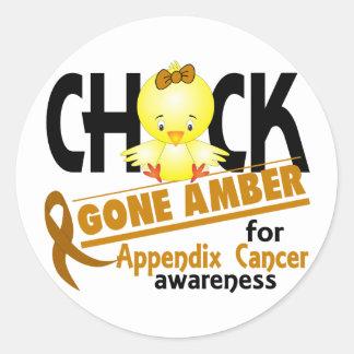 Appendix Cancer Chick Gone Amber 2 Sticker