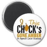 Appendix Cancer Chick Gone Amber Refrigerator Magnets