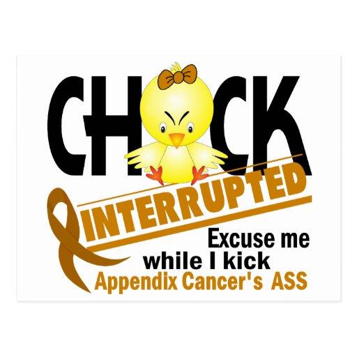 Appendix Cancer Chick Interrupted 2 Postcard