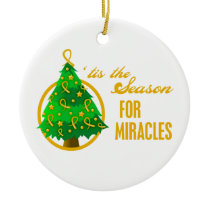 Appendix Cancer Christmas Miracles Ceramic Ornament