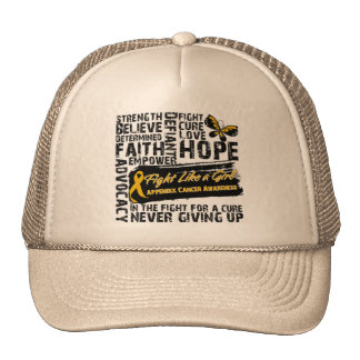 Appendix Cancer Collage - Fight Like a Girl Trucker Hat