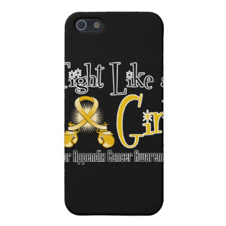 Appendix Cancer Cool Retro Fight Like a Girl iPhone 5 Cases