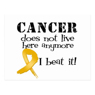 Appendix Cancer Does Not Live Here Anymore Postcards