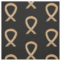 Appendix Cancer Fabric Amber Awareness Ribbon Art