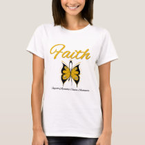 Appendix Cancer Faith Butterfly Ribbon T-Shirt