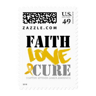 Appendix Cancer Faith Love Cure Stamp