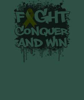 Appendix Cancer Fight Conquer and Win T Shirt