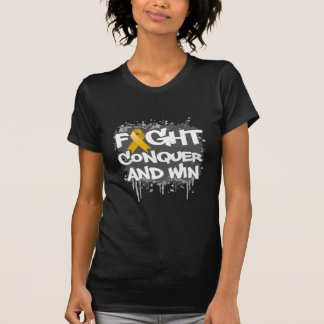 Appendix Cancer Fight Conquer and Win Tshirt