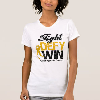Appendix Cancer Fight Defy Win Tshirts