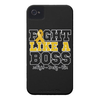 Appendix Cancer Fight Like a Boss iPhone 4 Cases